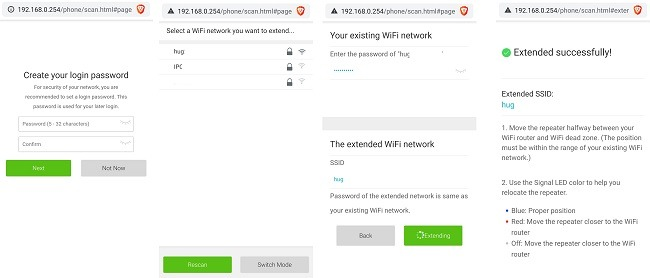 Rock Space Wi Fi Range Extender-Überprüfungsbrowser