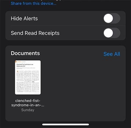 Nachrichtendateien speichern Dokumente Dateien