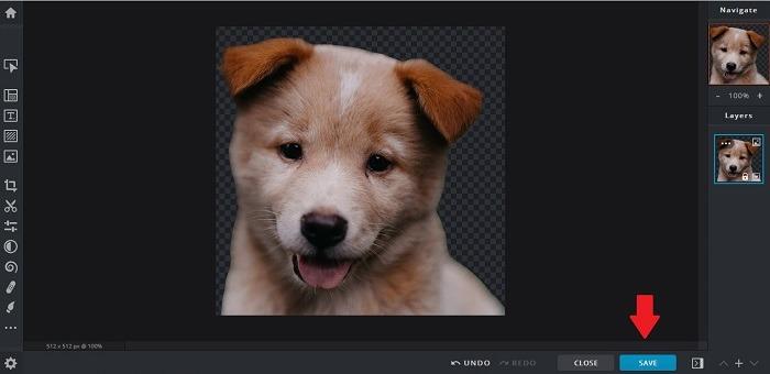 So erstellen Sie Aufkleber Telegramm Pixlr X Speichern Sie das bearbeitete Bild