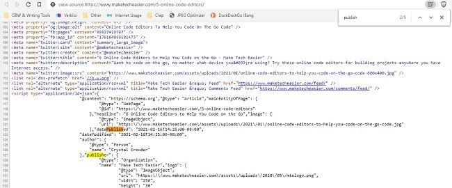 So finden Sie heraus, wann eine Webseite veröffentlicht wurde Code