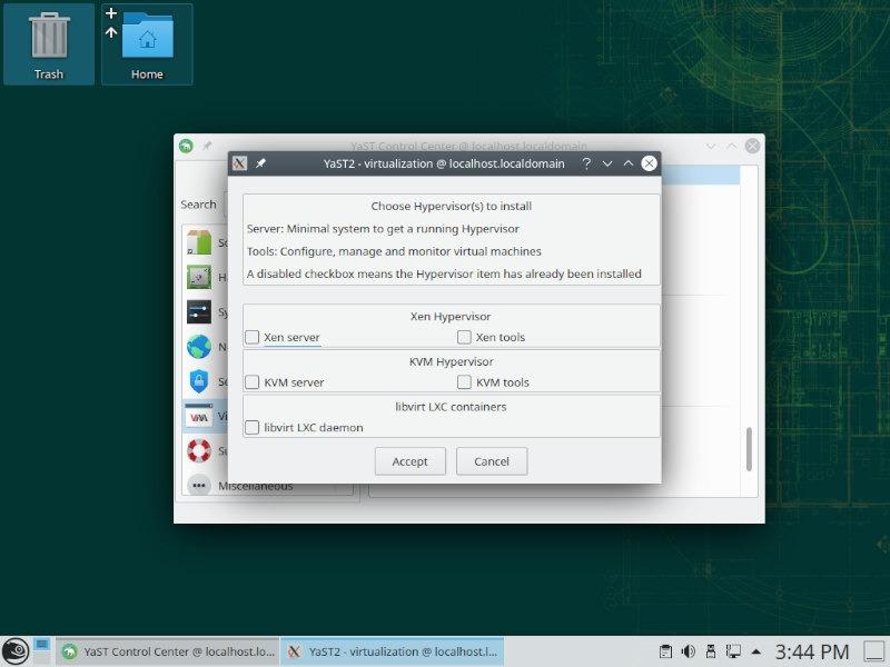 Opensuse Review Yast Virtualization