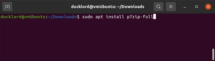 Komprimieren Sie geteilte Dateien in Ubuntu Installieren Sie P7zip