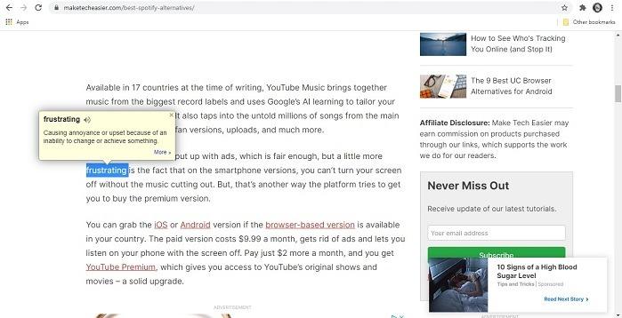 Beste Chrome-Erweiterungen für Studenten Google Dictionary