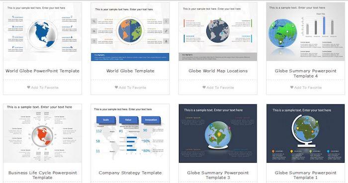 Slideuplift Worldmap-Vorlagen