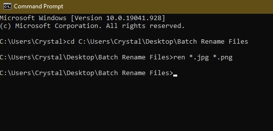 3 Möglichkeiten zum Batch-Umbenennen von Dateien in Windows Explorer-Cmd-Cd-Erweiterungen
