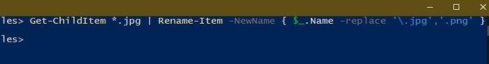 3 Möglichkeiten zum Batch-Umbenennen von Dateien in der Windows Explorer Powershell-Umbenennungserweiterung