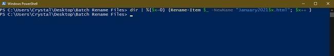 3 Möglichkeiten zum Batch-Umbenennen von Dateien in Windows Explorer Powershell Rename