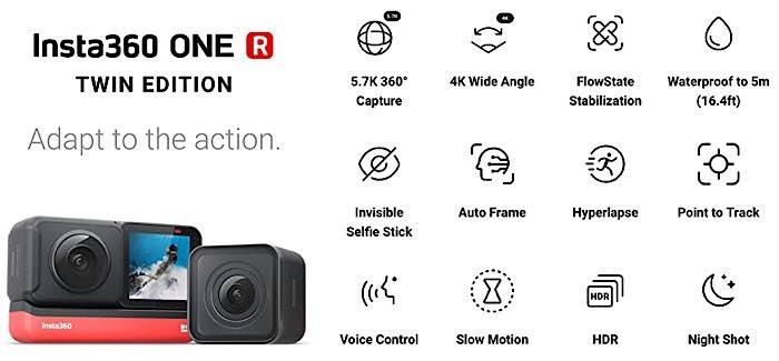 Details zur Insta360-Aktionskamera