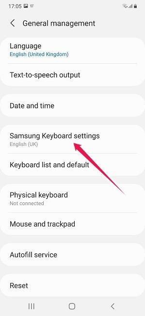 So schalten Sie die automatische Korrektur der Android Samsung-Tastatureinstellungen ein