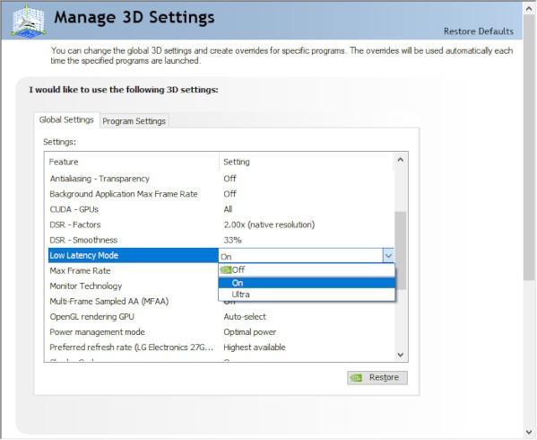 Nvidia und Amd Anti Lag Nvidia Schritt 2