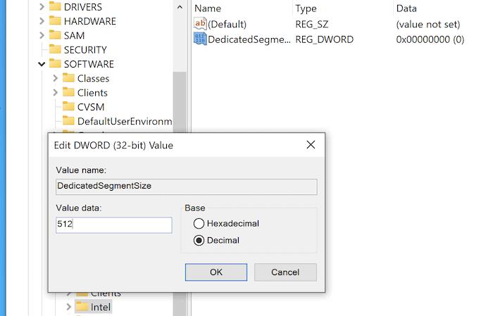 Hinzufügen eines neuen Schlüssels zur Windows-Registrierung.