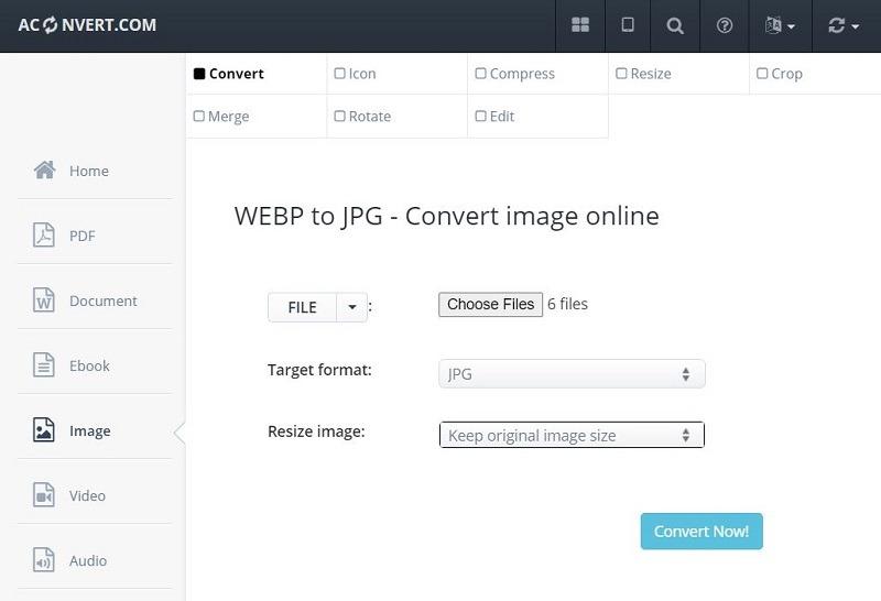 Aconvert Convert Webp To Jpg