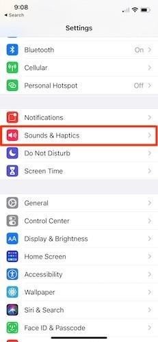 Toneinstellungen für ausgehende iPhone-Nachrichten