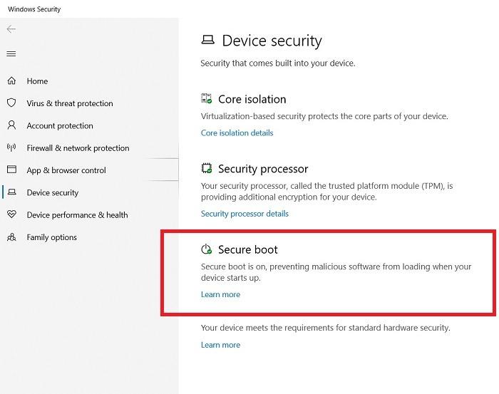 Windows11-Kompatibilität Secure Boot