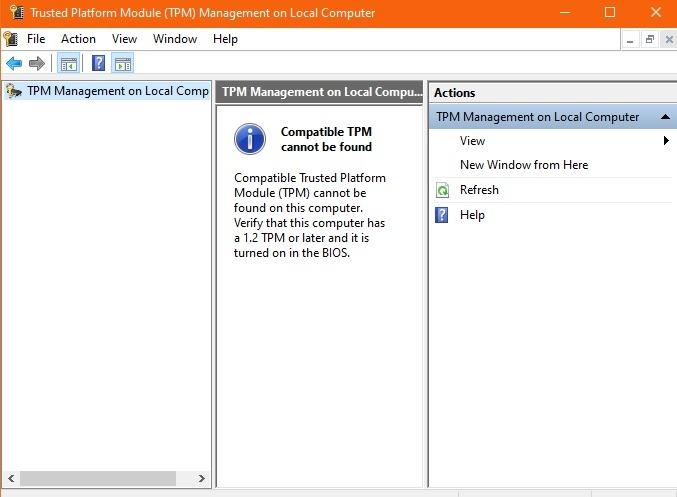 Windows11-Kompatibilitäts-TPM nicht gefunden