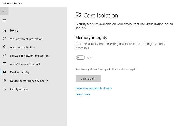 Windows11-Kompatibilität Vbs-Speicherintegrität