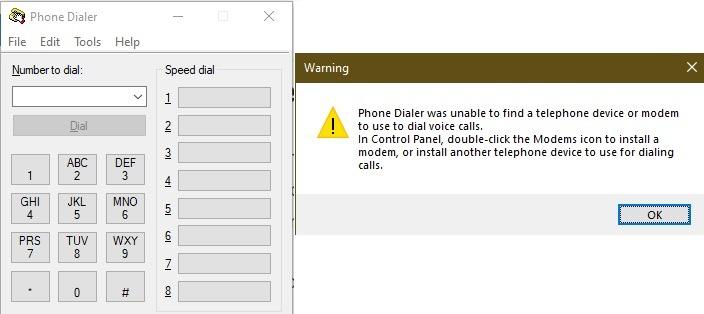 Windows 10 Easter Eggs und Geheimnisse für die Suche nach Dialer