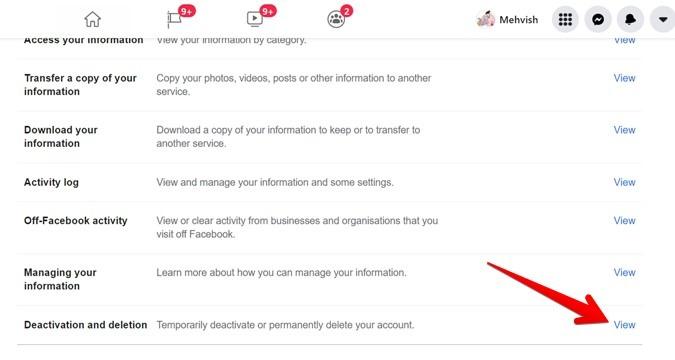 Facebook-Konto löschen oder deaktivieren