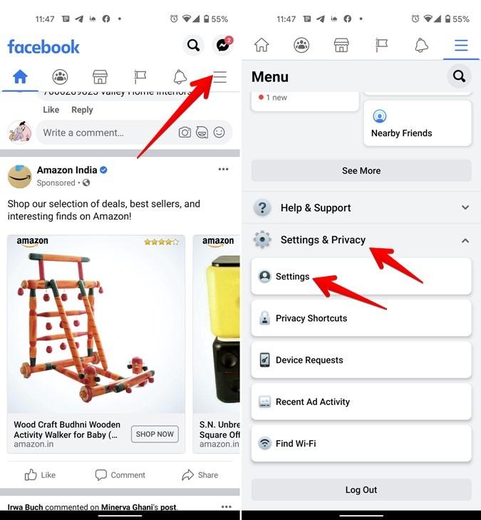 Facebook-Android-Einstellungen