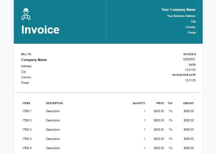 Waveapps für Google Docs-Rechnungsvorlagen