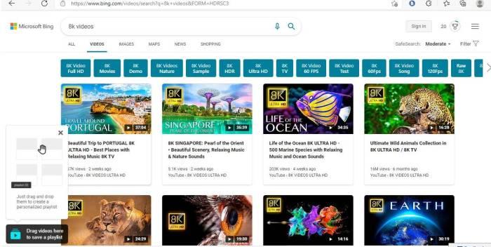 Ist Bing besser als die Google-Videosuche auf Bing
