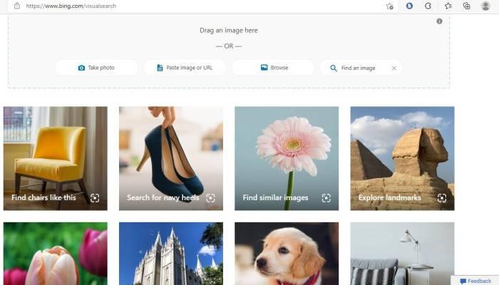 Ist Bing besser als die visuelle Suche von Google Bing