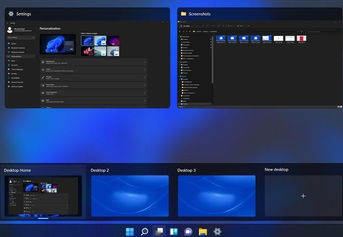 Mehrere Desktops erstellt Aufgabenansicht Windows11