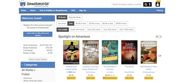 Kostenlose Websites E-Books herunterladen Smashwords
