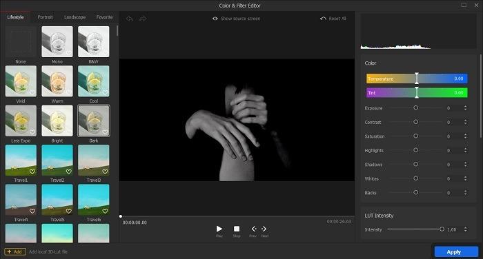 Videoproc Vlogger Bewertungsfarbe