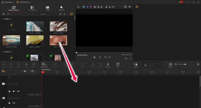 Videoproc Vlogger Hochgeladene Elemente überprüfen