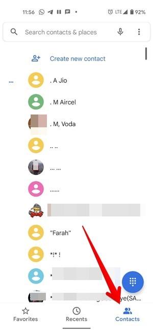 Blockieren Sie die Nummer der Android-Telefon-App-Kontakte