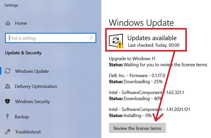 Windows11 Rollback von Windows10 Update auf Windows11 wieder
