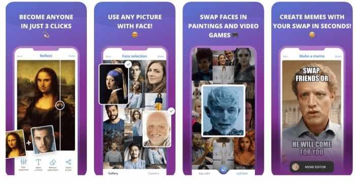 Die besten Face-Swapping-Apps für iOS Reflect