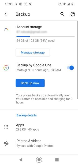 Spielfortschritt Android-Backup synchronisieren