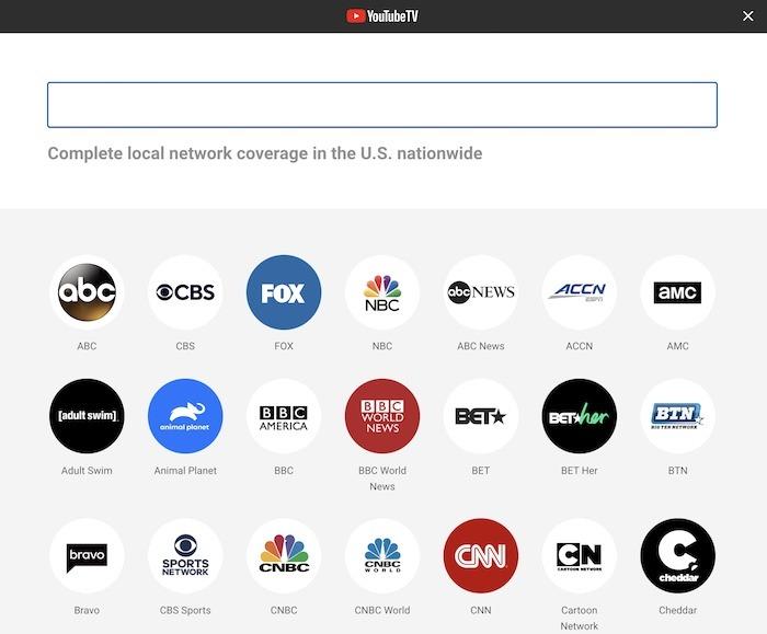 Liste der Youtube-TV-Premiumkanäle