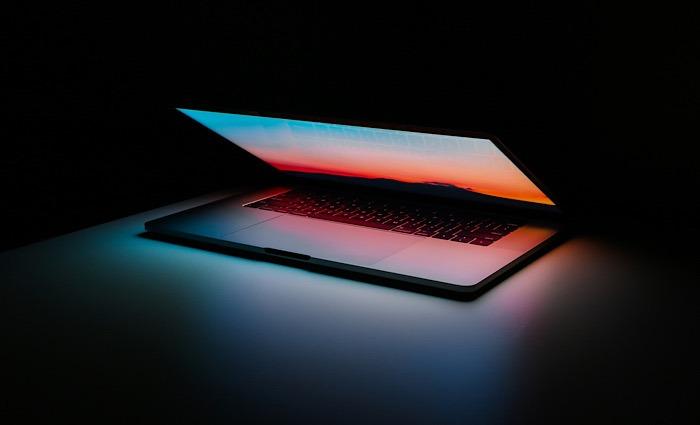 Gehackte Informationen Dark Web Geschlossener Laptop