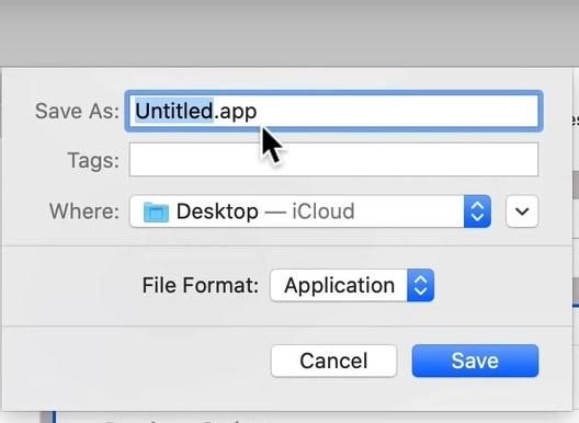 Gmail Desktop-App erstellen Macos Speichern unter