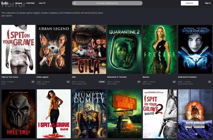 Horrorfilme kostenlos streamen Tubi