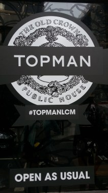 Topman pub during LCM
