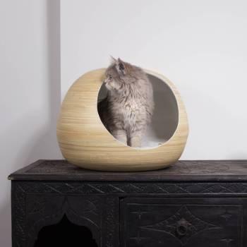 White bamboo cat ball 4