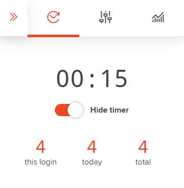 AdaptiBar timer