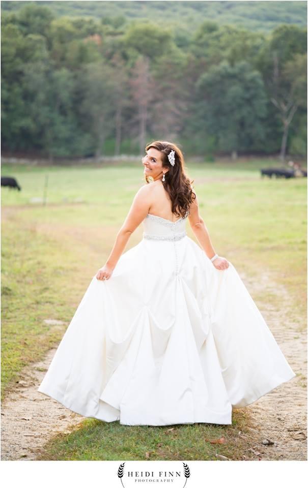Bridal hair and makeup for Lisa's rustic barn wedding