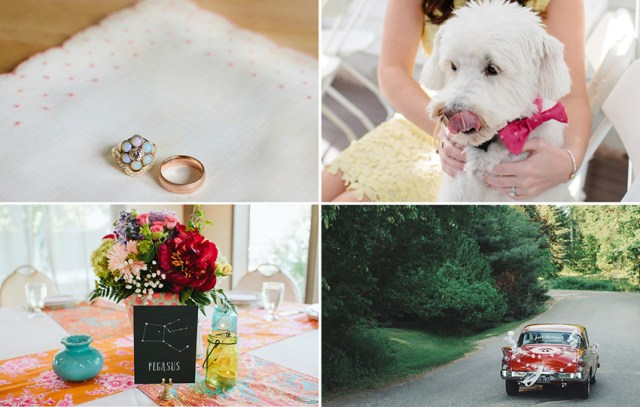 Hair and makeup for Lindsay's floral wedding at Wight Farm