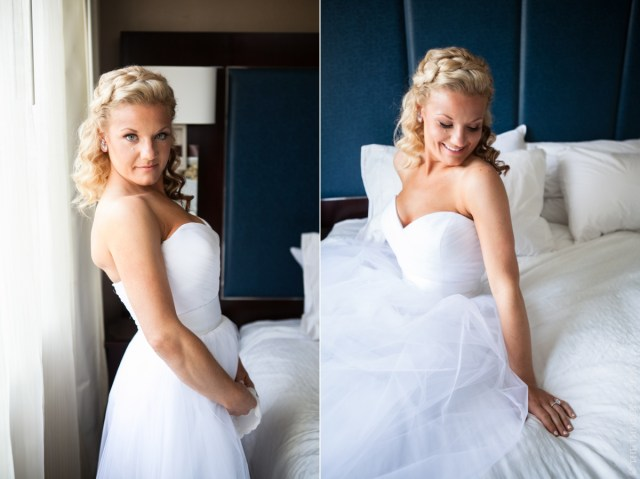Bridal hair and makeup for Harrington Farm wedding
