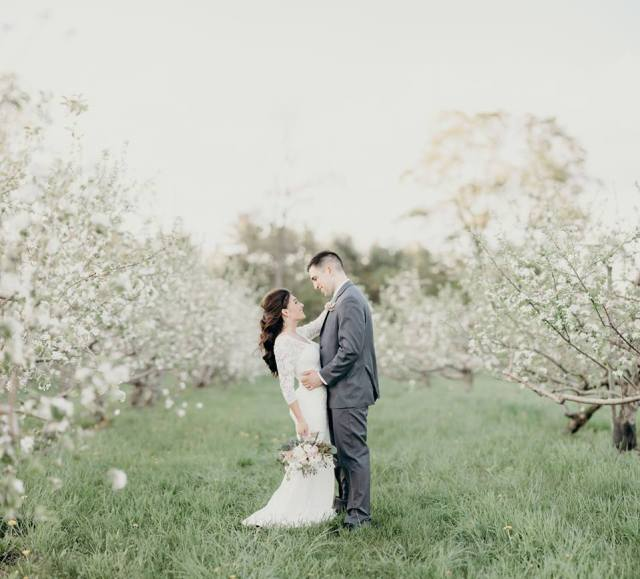 Bridal makeup and hair for Karina's wedding at Quonquont Farm in Western MA