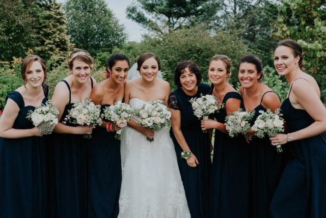 Bridal hair and makeup for Marisa's botanic garden wedding at the Tower Hill in Boylston, MA.
