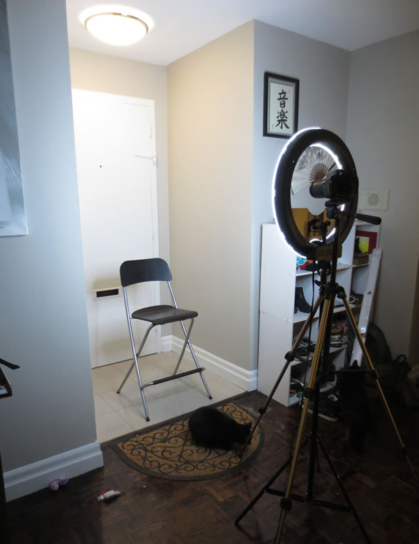 Use As A Filming Area For My YouTube Videos The Only We Really Have Available To Put Up Backdrop Was Our Entrance Hallway Apartment