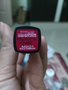 Maybelline Color Show Matte Lipstick in 201 Bold Crimson