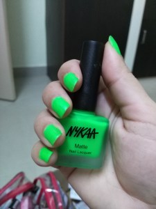 Nykaa Neon Matte Nail Enamel in 77 Key Lime Slush