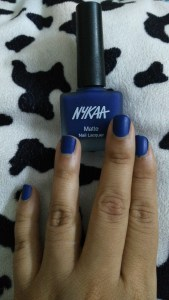 Nykaa Matte Nail Lacquer in Blueberry Compote - 119